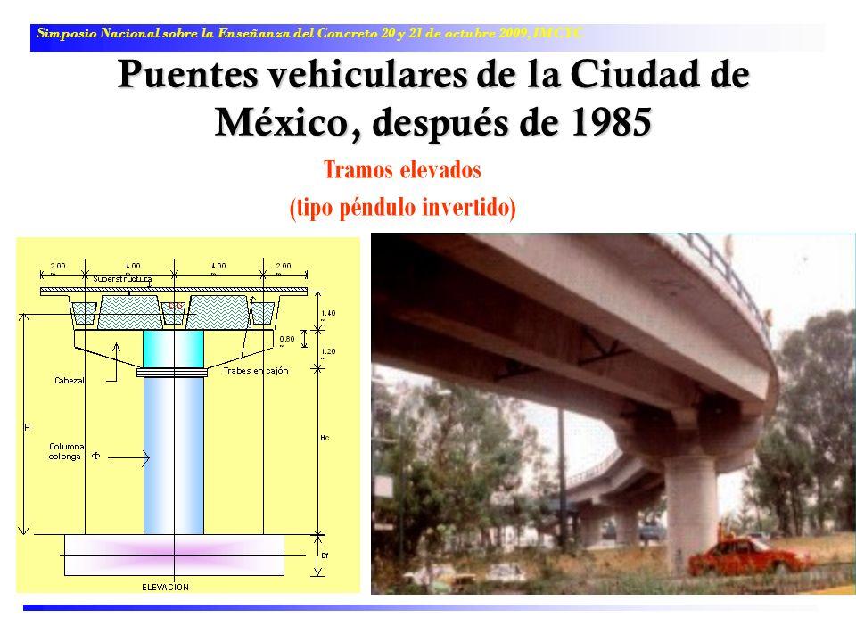 Puentes vehiculares de la Ciudad de México, después de 1985