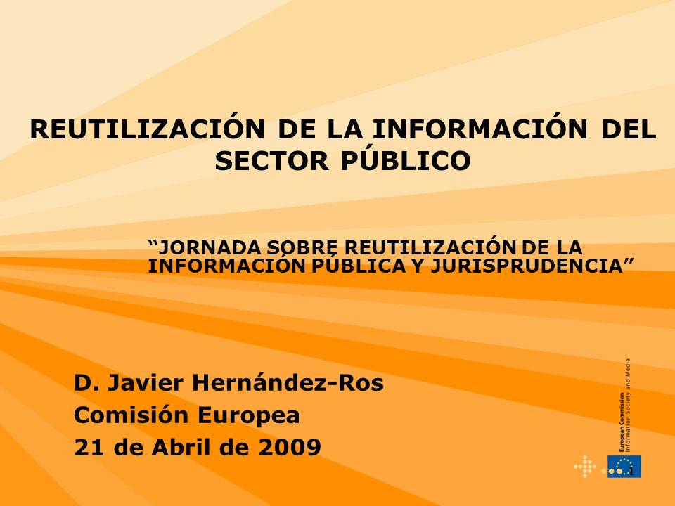 REUTILIZACIÓN DE LA INFORMACIÓN DEL SECTOR PÚBLICO