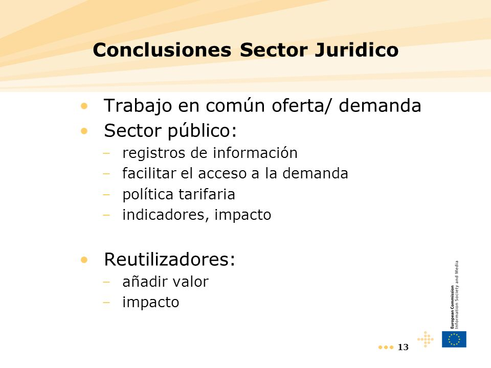 Conclusiones Sector Juridico