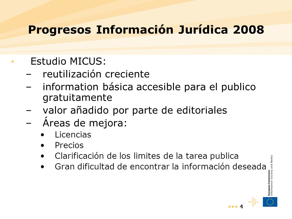 Progresos Información Jurídica 2008