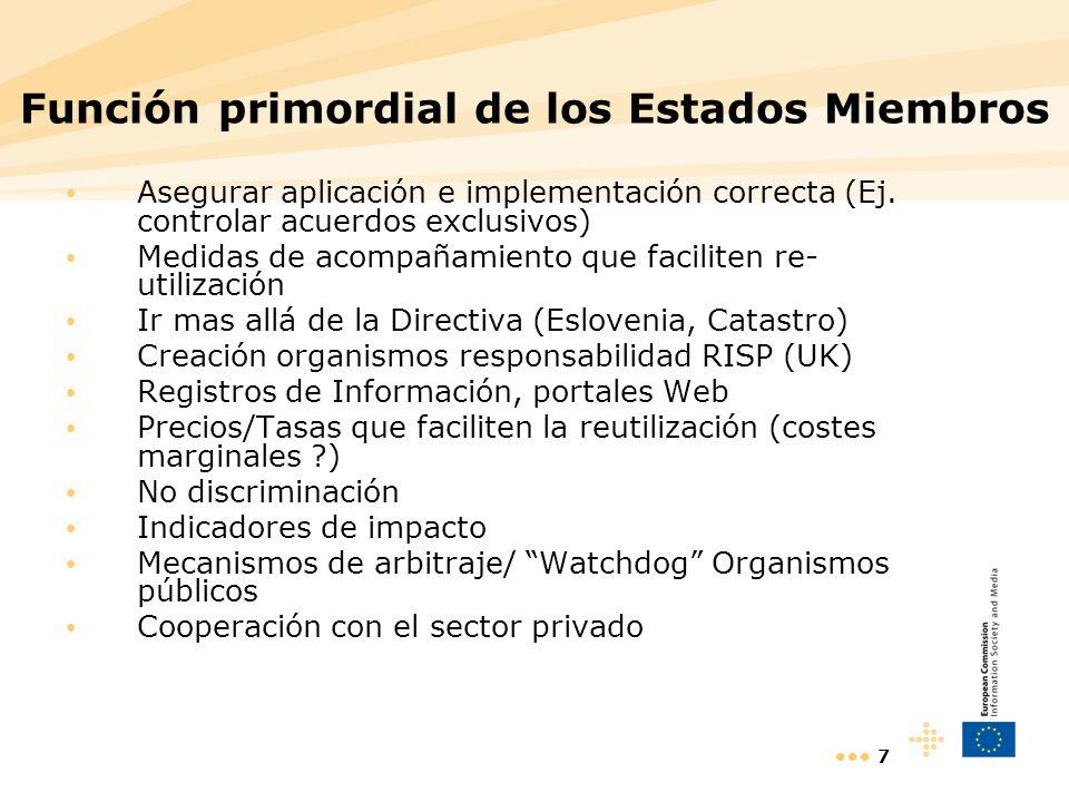 Función primordial de los Estados Miembros