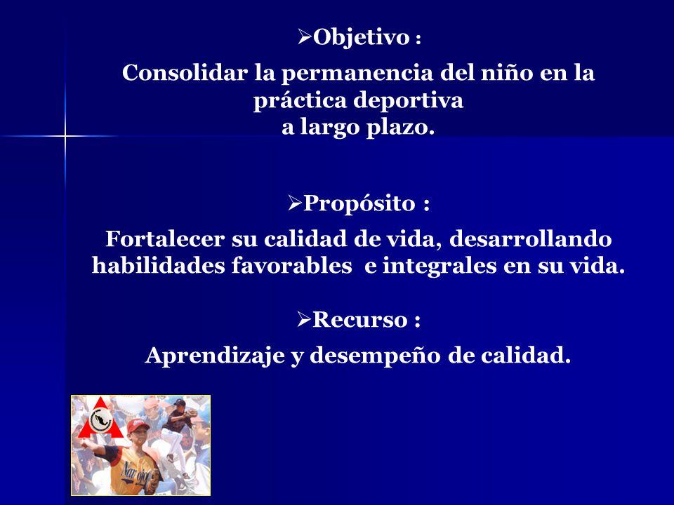 Consolidar la permanencia del niño en la práctica deportiva