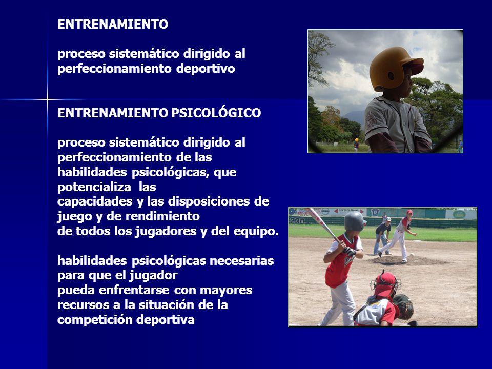 ENTRENAMIENTO proceso sistemático dirigido al perfeccionamiento deportivo. ENTRENAMIENTO PSICOLÓGICO.