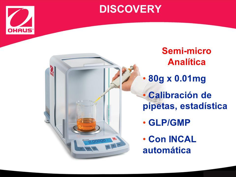 DISCOVERY Semi-micro Analítica 80g x 0.01mg