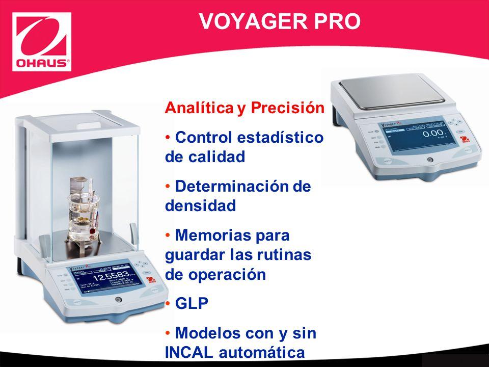 VOYAGER PRO Analítica y Precisión Control estadístico de calidad
