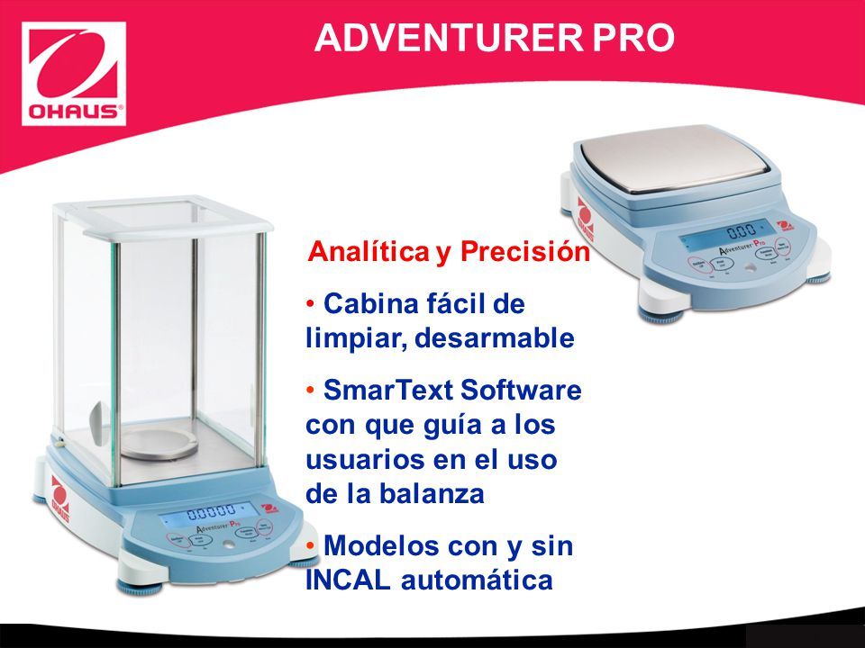 ADVENTURER PRO Analítica y Precisión