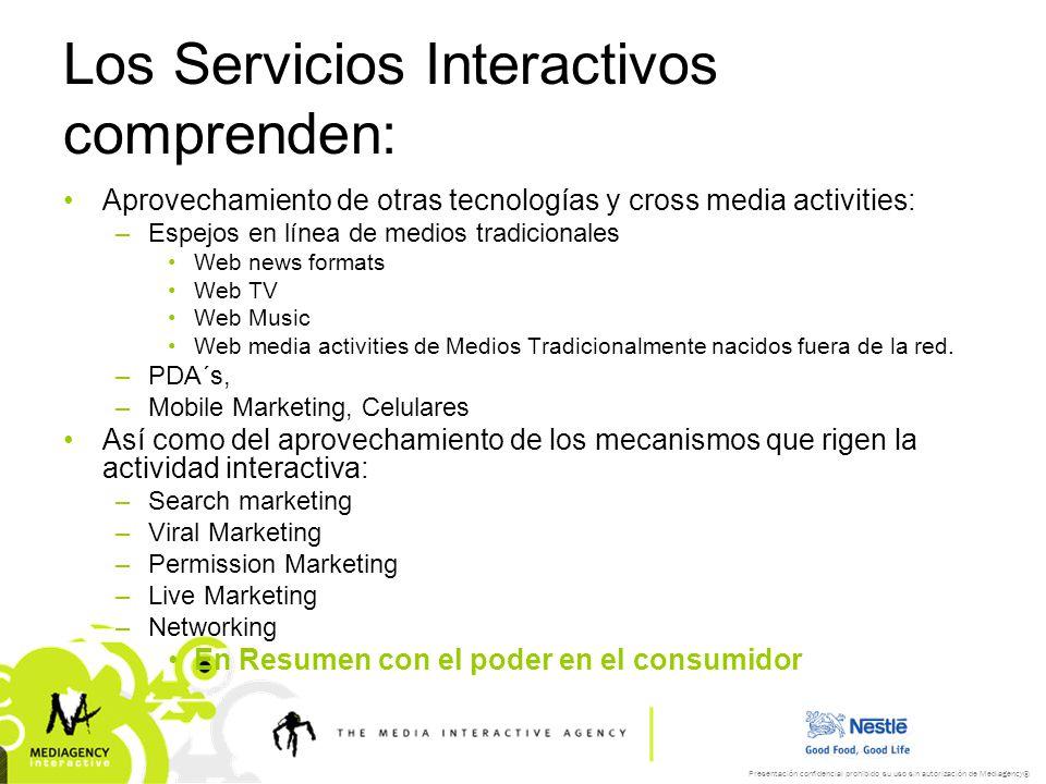 Los Servicios Interactivos comprenden: