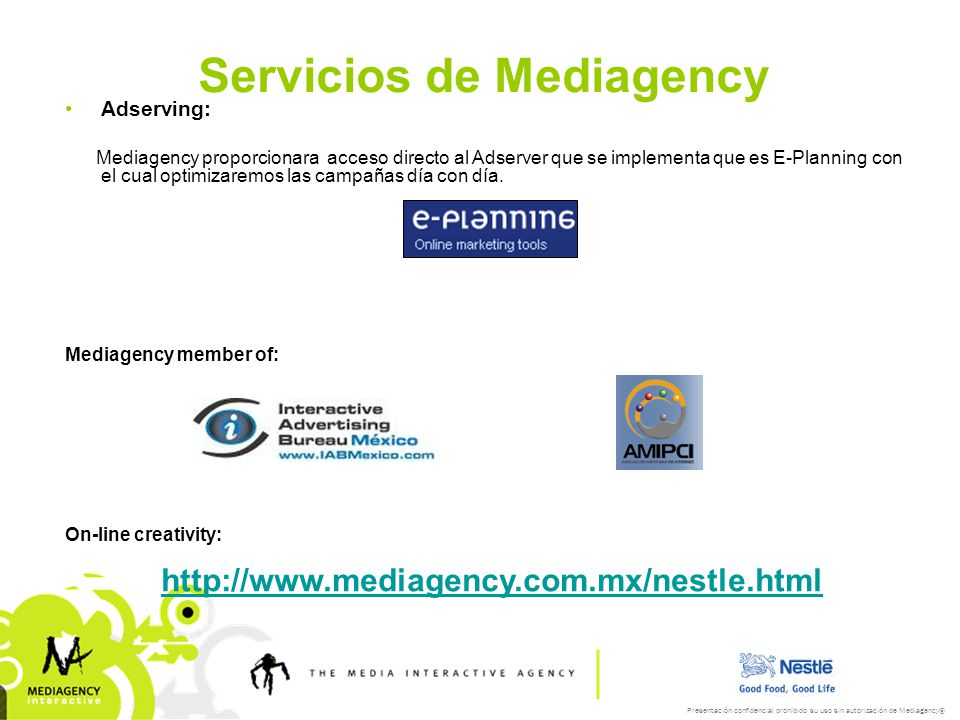 Servicios de Mediagency