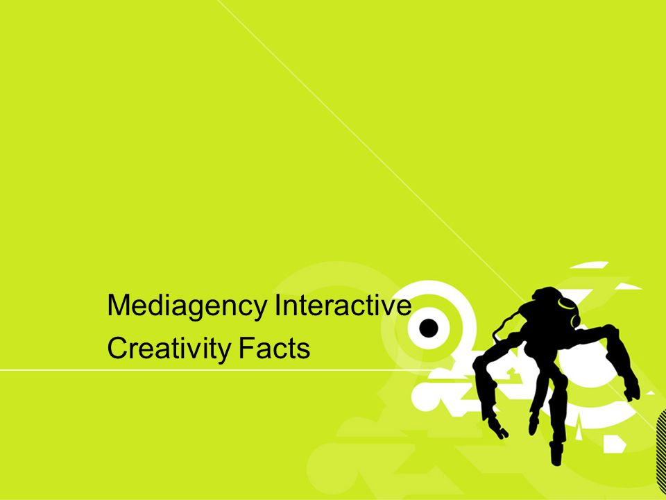 Mediagency Interactive Creativity Facts