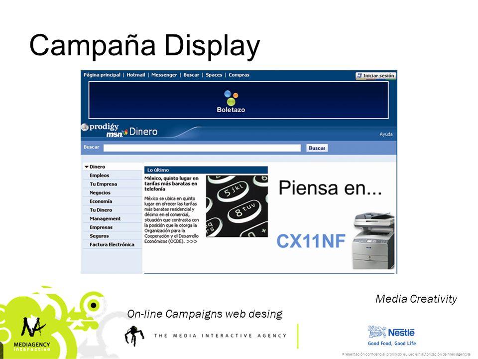 Campaña Display Media Creativity On-line Campaigns web desing