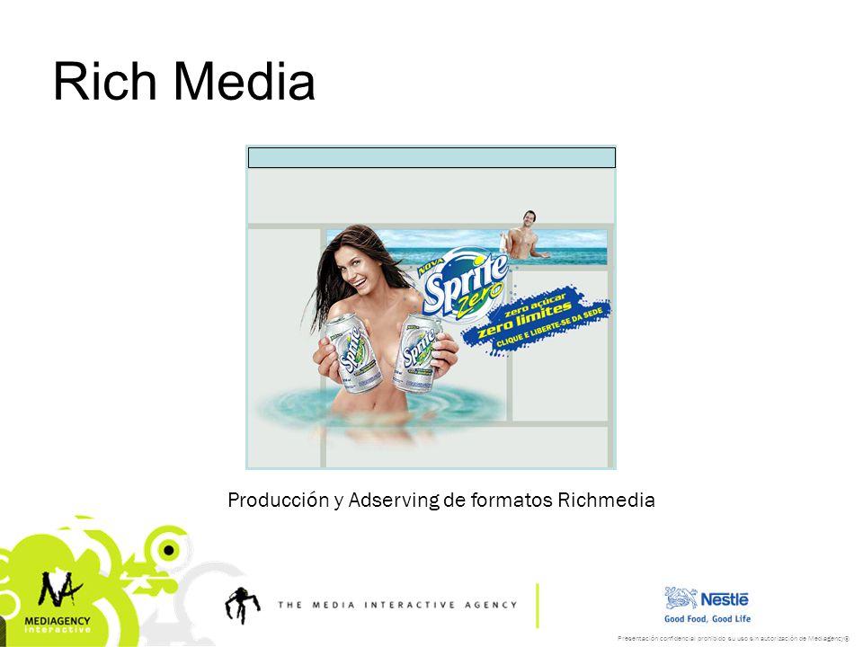 Rich Media Producción y Adserving de formatos Richmedia