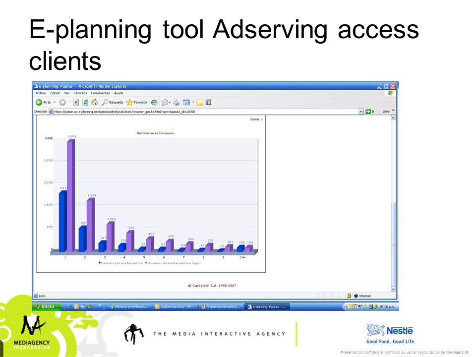 E-planning tool Adserving access clients