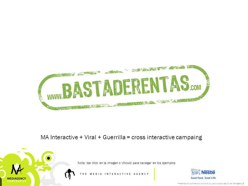 MA Interactive + Viral + Guerrilla = cross interactive campaing