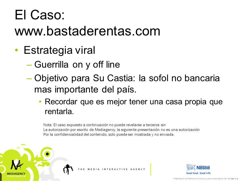 El Caso: www.bastaderentas.com