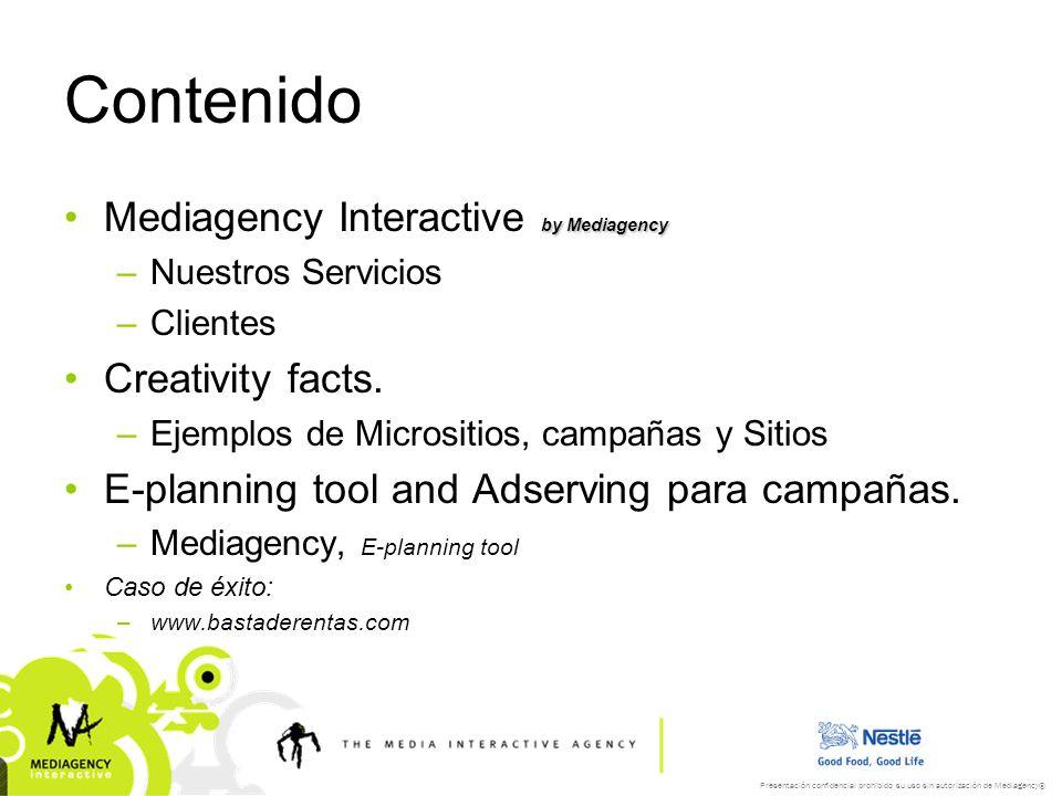 Contenido Mediagency Interactive by Mediagency Creativity facts.