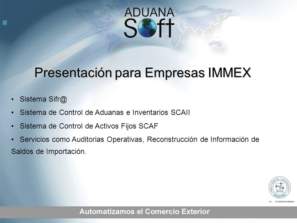 Presentación para Empresas IMMEX