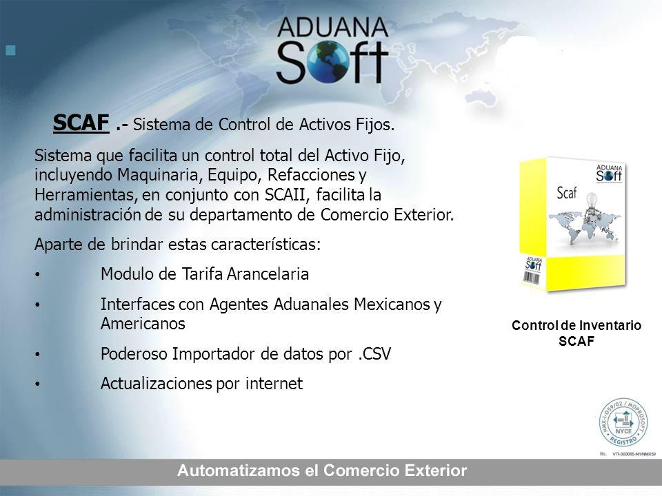 SCAF .- Sistema de Control de Activos Fijos.