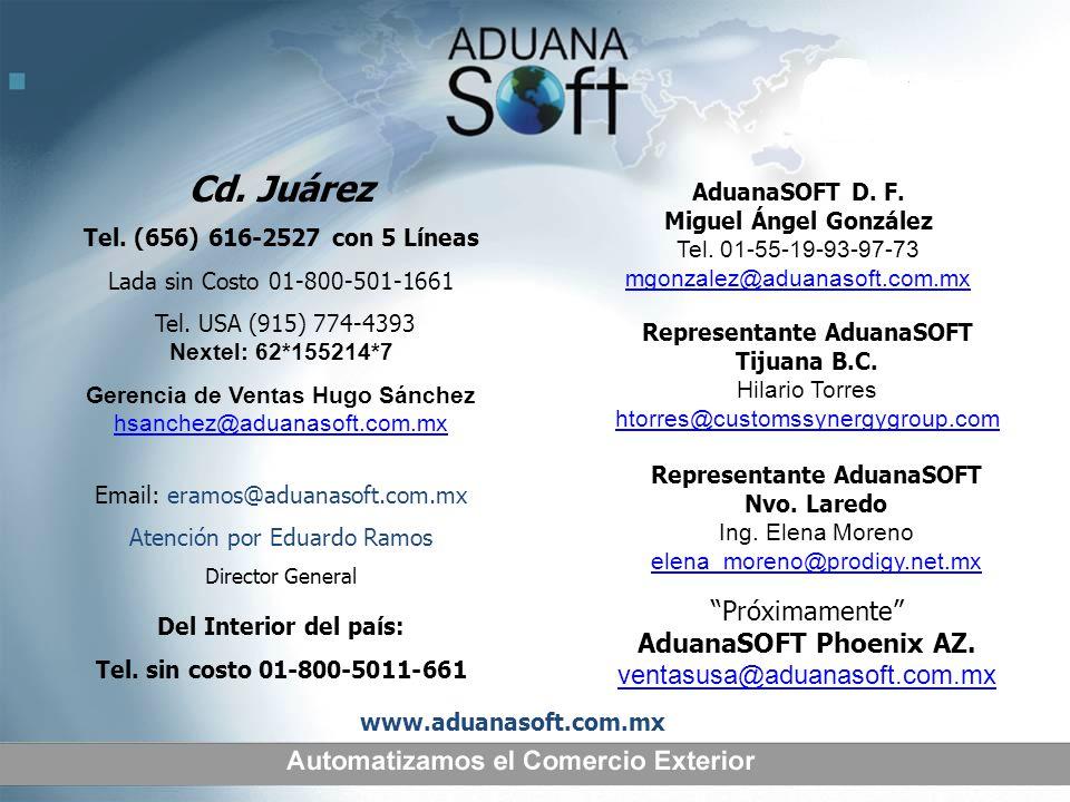 Representante AduanaSOFT Representante AduanaSOFT