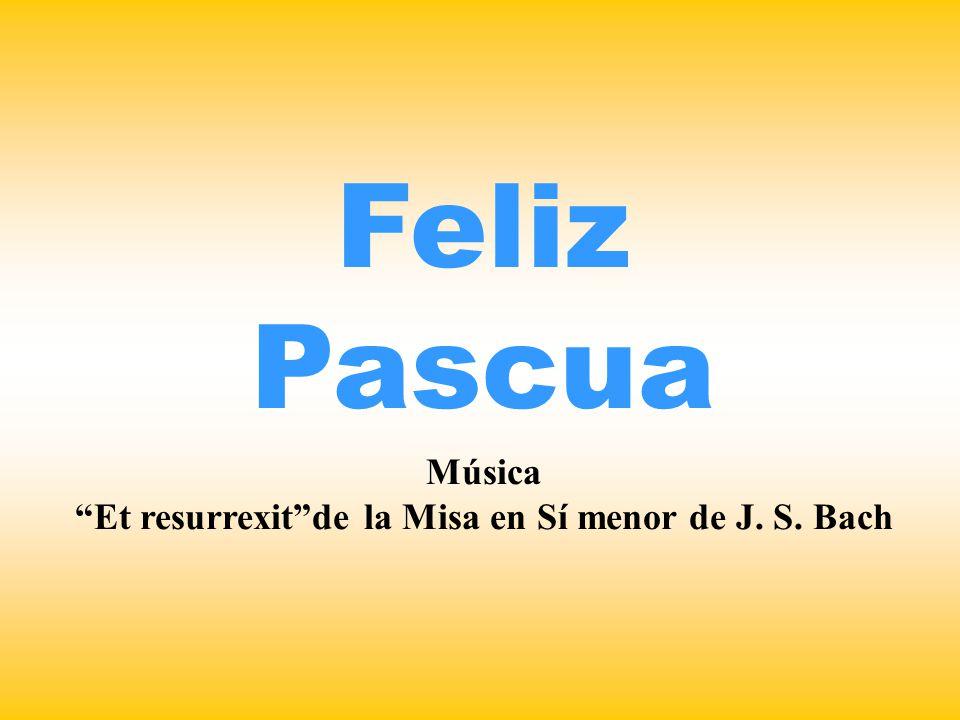 Música Et resurrexit de la Misa en Sí menor de J. S. Bach