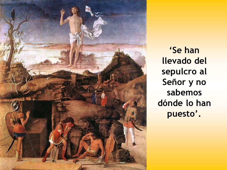 'Se han llevado del sepulcro al Señor y no sabemos dónde lo han puesto'.