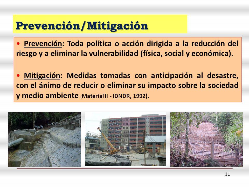 Prevención/Mitigación