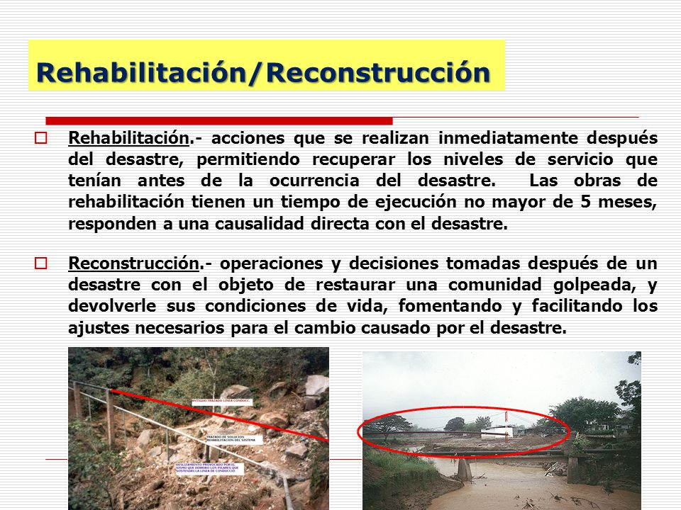 Rehabilitación/Reconstrucción