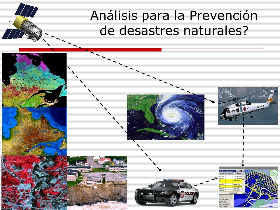 Análisis para la Prevención de desastres naturales