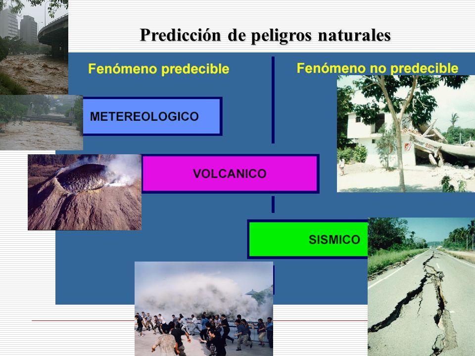 Predicción de peligros naturales
