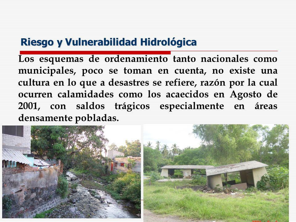 Riesgo y Vulnerabilidad Hidrológica