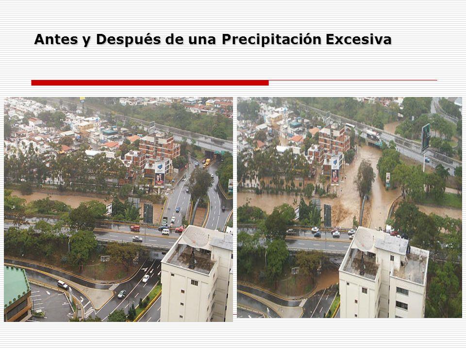 Antes y Después de una Precipitación Excesiva