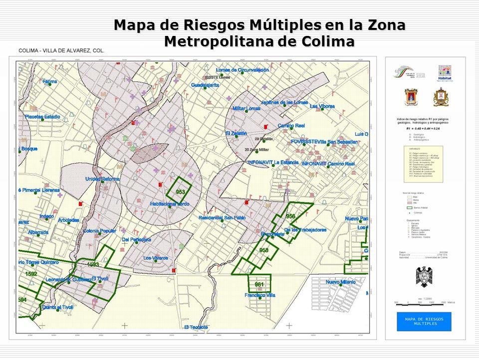 Mapa de Riesgos Múltiples en la Zona Metropolitana de Colima