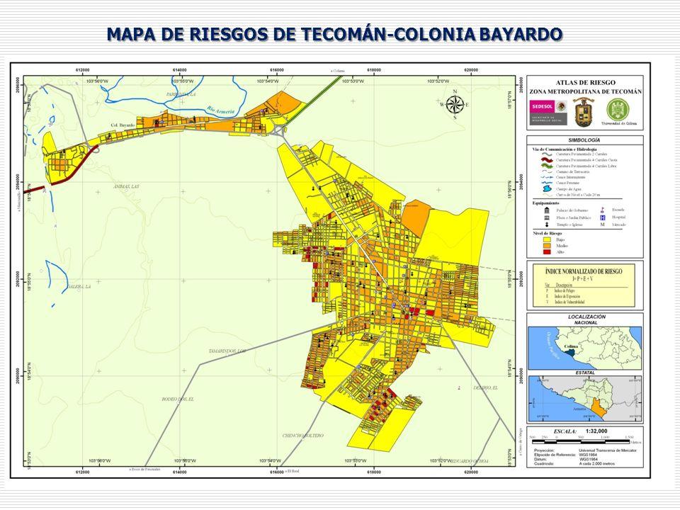 MAPA DE RIESGOS DE TECOMÁN-COLONIA BAYARDO