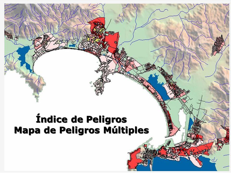 Índice de Peligros Mapa de Peligros Múltiples