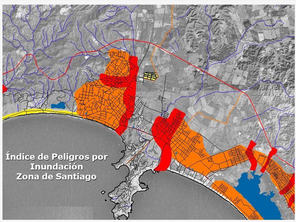 Índice de Peligros por Inundación Zona de Santiago
