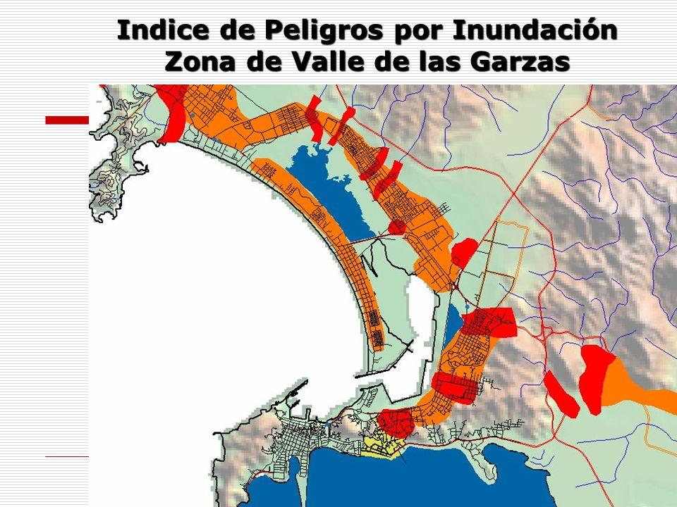 Indice de Peligros por Inundación Zona de Valle de las Garzas