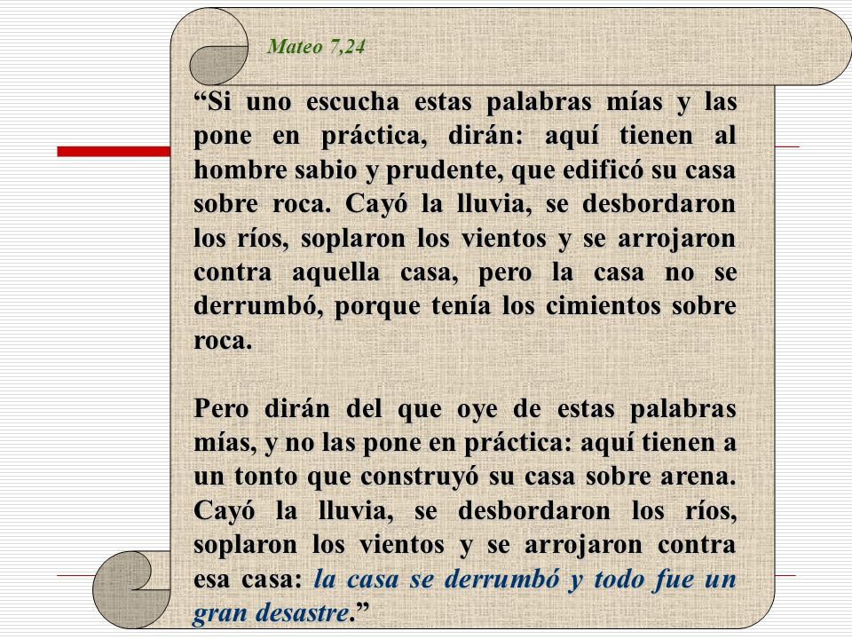 Mateo 7,24