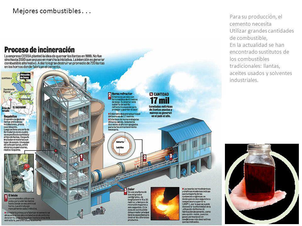 Mejores combustibles . . . Para su producción, el cemento necesita