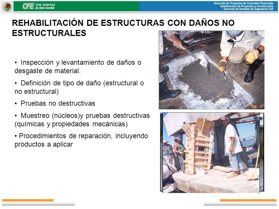 REHABILITACIÓN DE ESTRUCTURAS CON DAÑOS NO ESTRUCTURALES