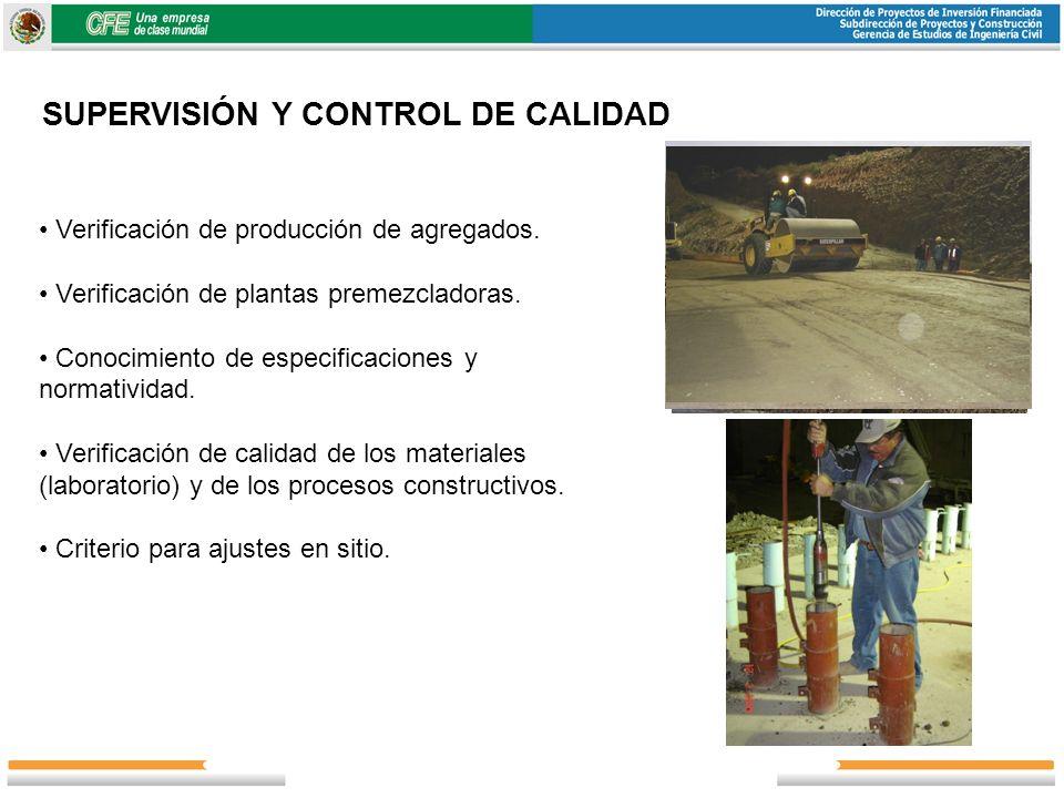 SUPERVISIÓN Y CONTROL DE CALIDAD