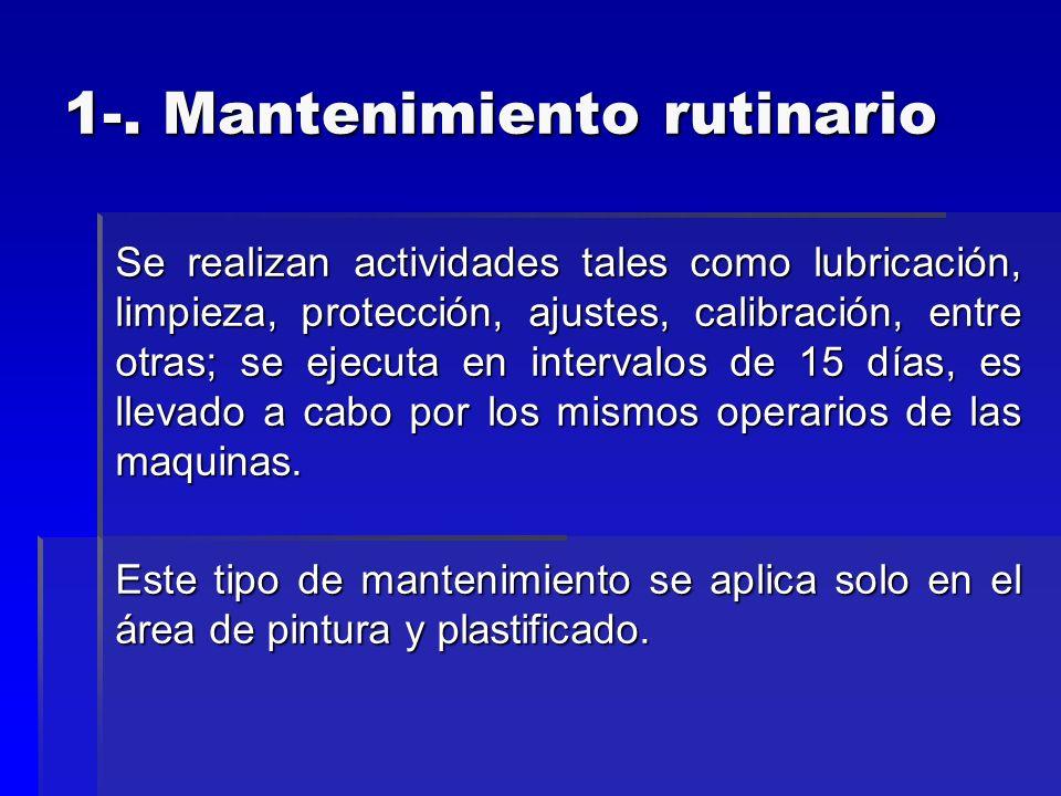 1-. Mantenimiento rutinario