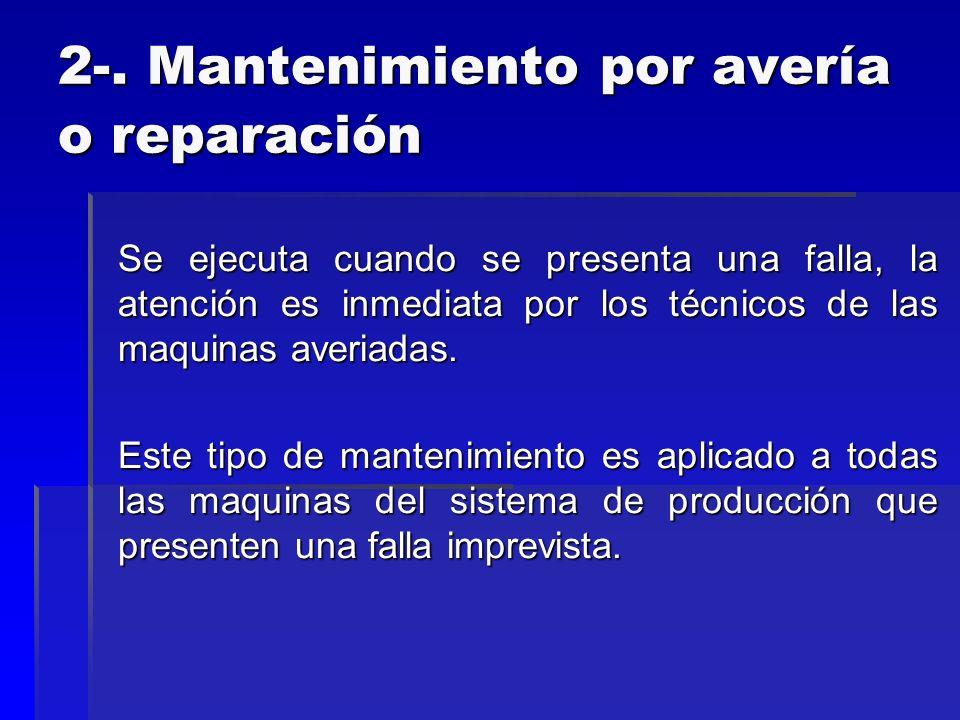 2-. Mantenimiento por avería o reparación