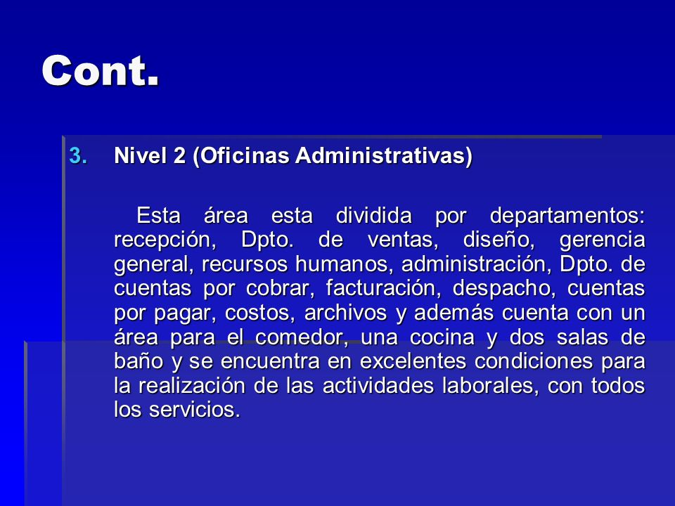 Cont. Nivel 2 (Oficinas Administrativas)