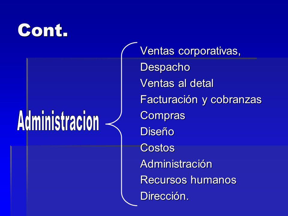 Cont. Administracion Ventas corporativas, Despacho Ventas al detal