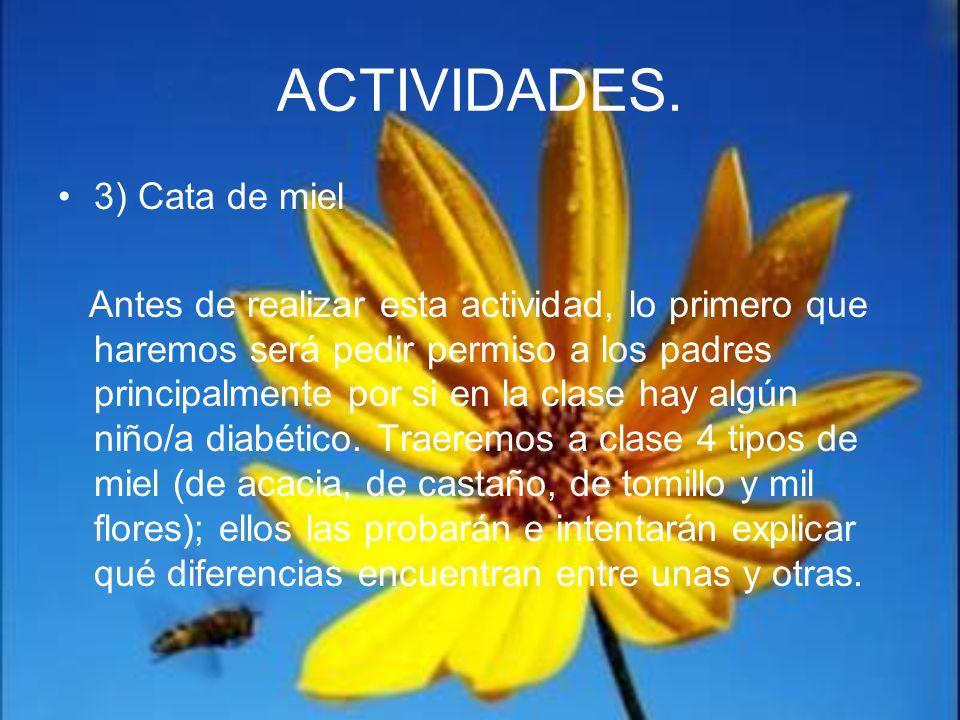 ACTIVIDADES. 3) Cata de miel