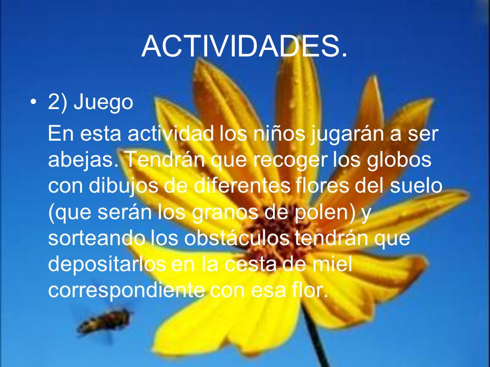 ACTIVIDADES.2) Juego.