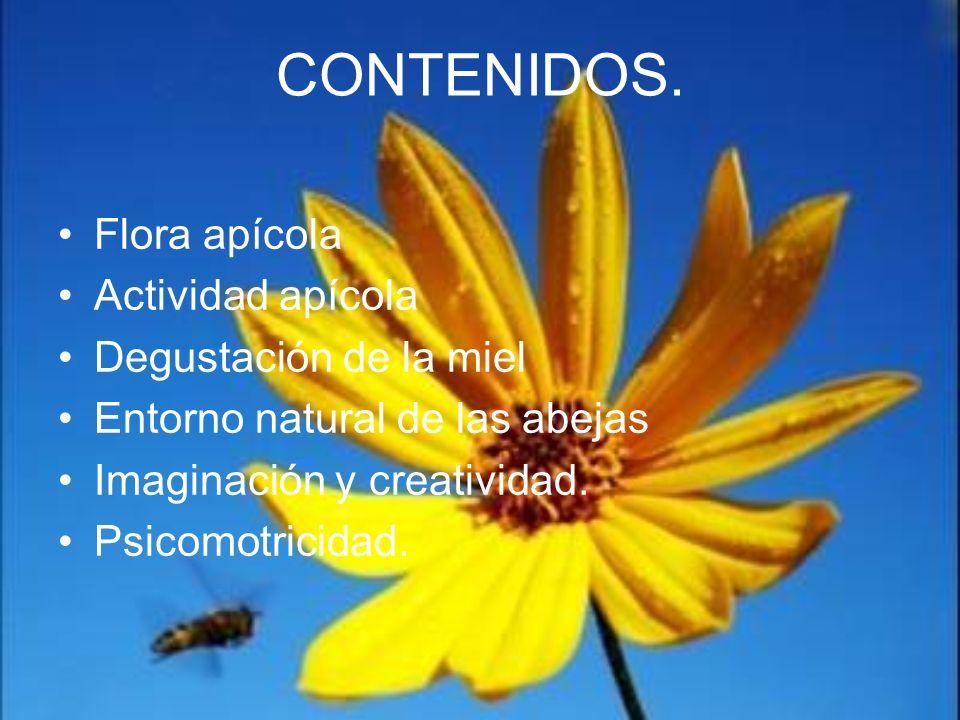CONTENIDOS. Flora apícola Actividad apícola Degustación de la miel