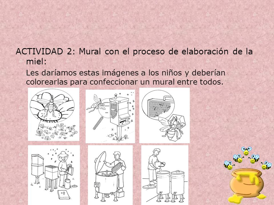 ACTIVIDAD 2: Mural con el proceso de elaboración de la miel:
