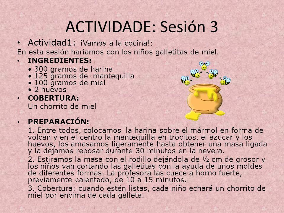 ACTIVIDADE: Sesión 3 Actividad1: ¡Vamos a la cocina!: