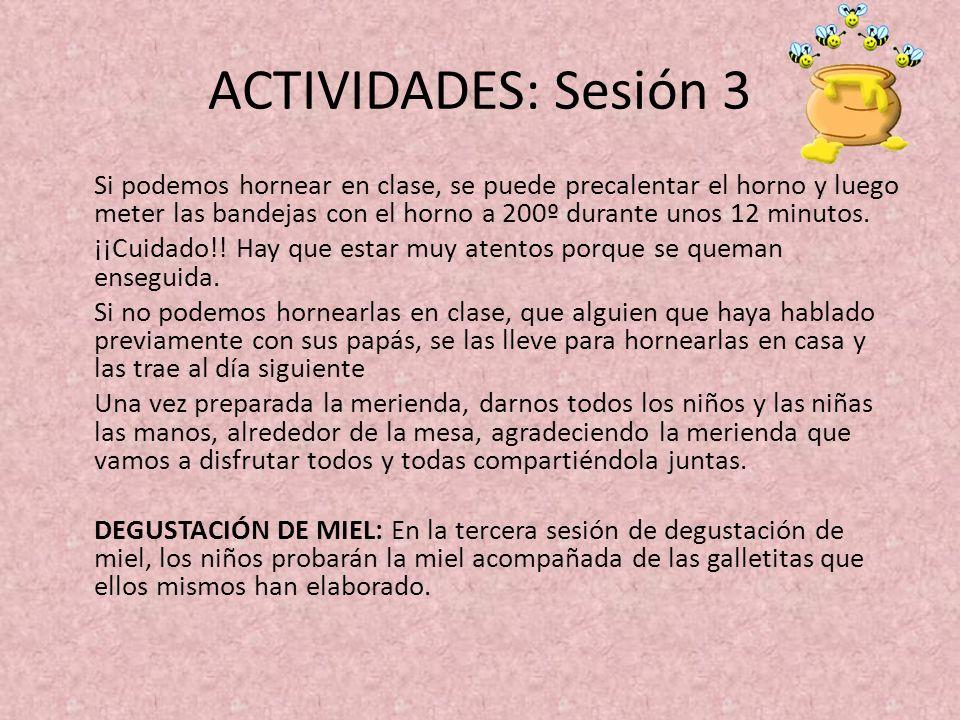 ACTIVIDADES: Sesión 3