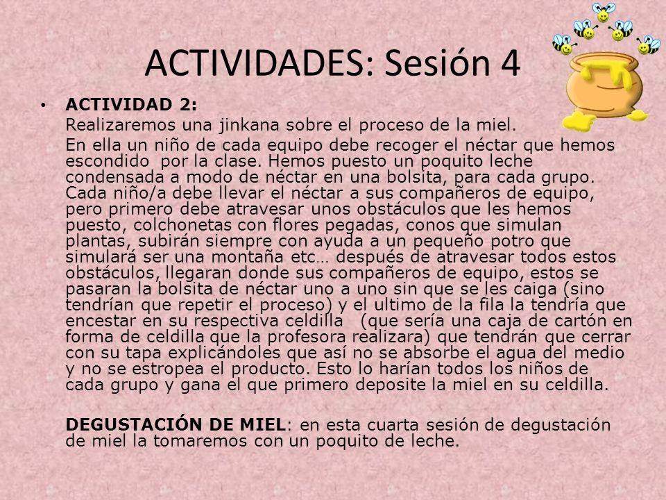 ACTIVIDADES: Sesión 4 ACTIVIDAD 2: